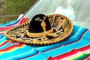 Traditional Mexican sombrero at Cinco de Mayo festival.  St Paul Minnesota USA