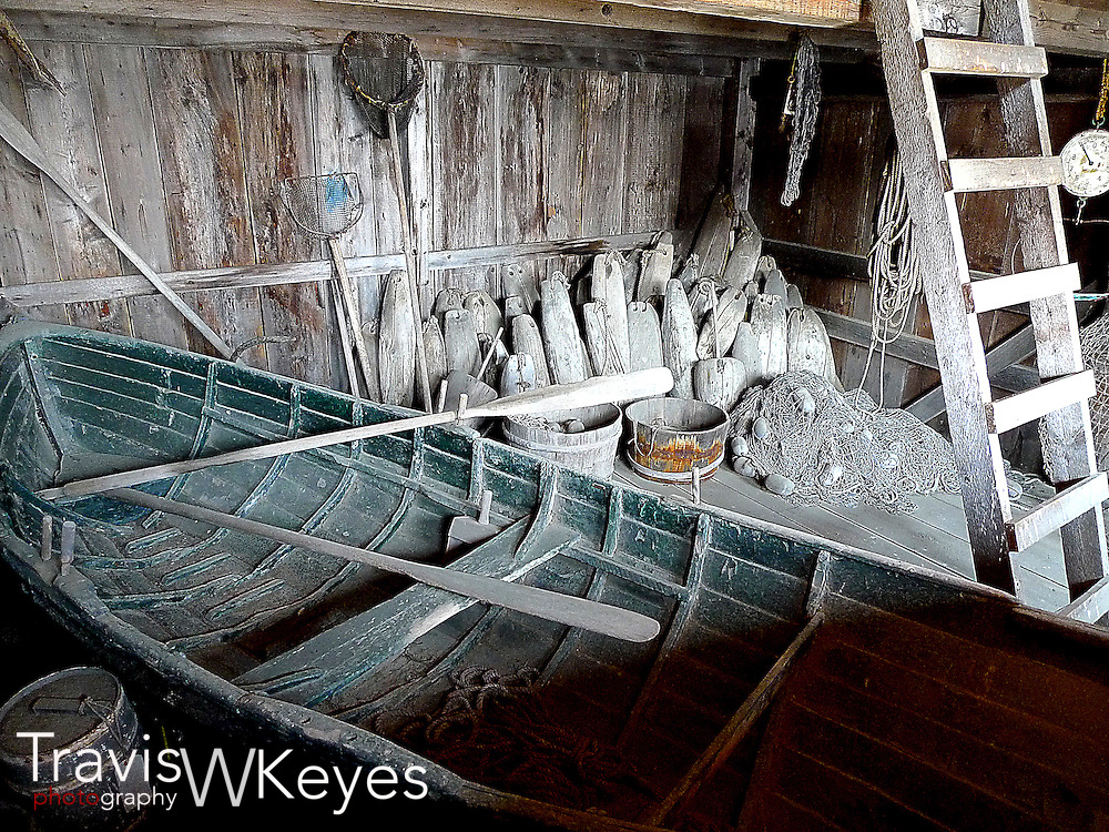 Old row boat in Mystic Connecticut
