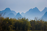Karsh formation mountains in the distance Guilin, China