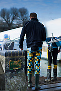 Hammersmith. London. United Kingdom,  Hammersmith. London.  General View, crews boating from the Furnivall SC, Pontoon 2018 Men's Head of the River Race.  Championship Course, River Thames, 2018 Men's Head of the River Race. , Championship Course, Putney to Mortlake. River Thames, <br /> <br /> Sunday   11/03/2018<br /> <br /> [Mandatory Credit:Peter SPURRIER Intersport Images]<br /> <br /> Leica Camera AG  M9 Digital Camera  1/3000 sec. 50 mm f. 160 ISO.  17.5MB