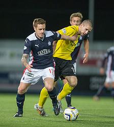 Falkirk's Alan Maybury and Livingston's Gary Glen. Falkirk 0 v 0  Livingston, Scottish Championship game played 21/10/2014 at The Falkirk Stadium.