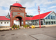 Columba buildings and Ee-Usk Restaurant, North Pier, Oban, Argyll and Bute, Scotland, UK