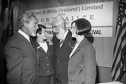 17/08/1967<br /> 08/17/1967<br /> 17 August 1967<br /> Player and Wills (Ireland) Ltd. give development grant to Cork Film Festival at Player and Wills headquarters, South Circular Road, Dublin. Picture shows Film personalities Eddie Byrne and Noel Purcell, who attended the reception chatting with Player and Wills girls Mary Ward (left) and Angela Dormer.