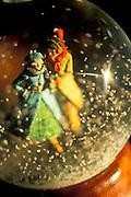 Old fashioned snow globe
