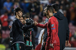 March 22, 2019 - Na - Lisbon, 03/22/2019 - The Portuguese Football Team received this afternoon their Ukrainian counterpart at the Estádio da Luz in Lisbon, in the Group B game, in the qualifying round for the 2020 European Championship. João Félix; Cristiano Ronaldo  (Credit Image: © Atlantico Press via ZUMA Wire)
