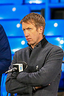 Graham Potter head coach of Brighton & Hove Albion in his post match radio  interview after the Premier League match between Leeds United and Brighton and Hove Albion at Elland Road, Leeds, England on 16 January 2021.
