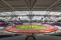Athletics - 2017 IAAF London World Athletics Championships - Day One<br /> <br /> The London Stadium prepares to host the IAAF World Championships<br /> <br /> COLORSPORT/DANIEL BEARHAM