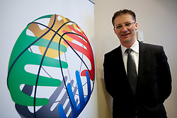 Dr. Igor Luksic, Slovenia's Minister of Education and Sport  at Eurobasket 2013 Candidate presentation of Slovenia at FIBA EUROPE Board on December 05, 2010 in Munich, Germany. The Board decided that Eurobasket 2013 will be hold in Slovenia. (Photo By Vid Ponikvar / Sportida.com)