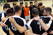 Capital players huddle after the Mens Futsal Superleague match, Central v Capital, Pettigrew Green Arena, Napier, Saturday, September 28, 2019. Copyright photo: Kerry Marshall / www.photosport.nz