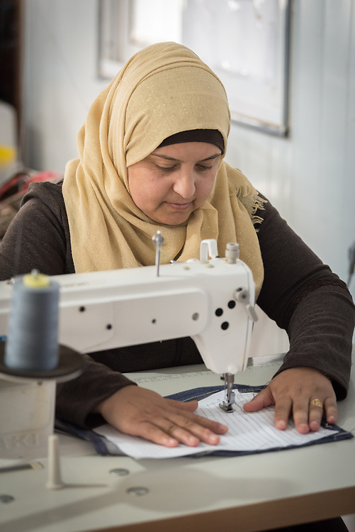 20 February 2020, Za'atari Camp, Jordan: Feryah Zain-Al Abdeen participates in sewing class in the Peace Oasis, a Lutheran World Federation space in the Za'atari Camp where Syrian refugees are offered a variety of activities on psychosocial support, including counselling, life skills trainings and other activities.