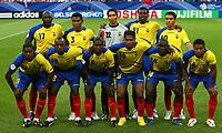 Gelsenkirchen 9/6/2006 World Cup 2006<br /> <br /> Poland Ecuador - Polonia Ecuador 0-2<br /> <br /> Photo Andrea Staccioli Graffitipress<br /> <br /> La Formazione dell'Ecuador<br /> <br /> In alto: Espinoza, Hurtado, Mora, Tenorio Edwin, Tenorio Carlos.<br /> <br /> In basso Delgado, Reasco, Mendez, Valencia, Castillo, De La Cruz
