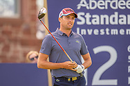 Benjamin Hebert (FRA) watches his drive on the 15th tee during the final round of the Aberdeen Standard Investments Scottish Open at The Renaissance Club, North Berwick, Scotland on 14 July 2019.