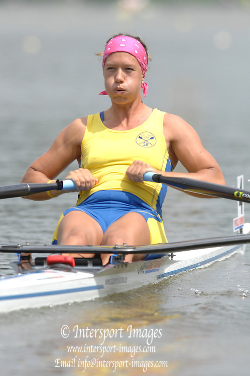 Amsterdam, HOLLAND, SWE W1X Frida SVENSSON , at the 2007 FISA World Cup Rd 2 at the Bosbaan Regatta Rowing Course. 23.06.2007[Mandatory Credit: Peter Spurrier/Intersport-images]...... , Rowing Course: Bosbaan Rowing Course, Amsterdam, NETHERLANDS