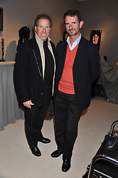 Left to right, LORD LINLEY and COUNT MANFREDIE DELLA GHERARDESCA at a preview evening of the annual London LAPADA (The Association of Art & Antiques Dealers) antiques Fair held in Berkeley Square, London on 20th September 2011.