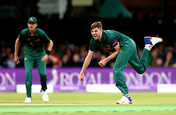 Harry Gurney of Nottinghamshire bowls during the Royal London One-Day Cup Final - Mandatory by-line: Robbie Stephenson/JMP - 01/07/2017 - CRICKET - Lord's Cricket Ground - London, United Kingdom - Nottinghamshire v Surrey - Royal London One-Day Cup Final 2017