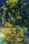 Claude Monet (14 November 1840 – 5 December 1926) French impressionist painter. The term Impressionism is derived from the title of his painting Impression, Sunrise (Impression, soleil levant). 'Coin du bassin aux nympheás', oil on canvas,