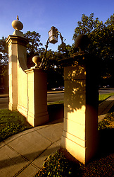 Stock photo of a gateway in River Oaks.