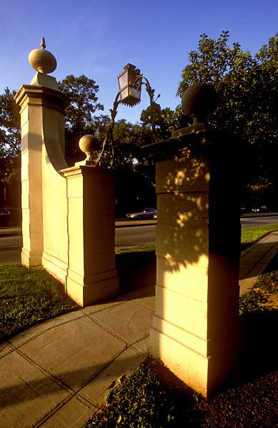 Stock photo of a gateway in River Oaks.