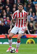 Geoff Cameron of Stoke city in action.  Premier league match, Stoke City v West Ham Utd at the Bet365 Stadium in Stoke on Trent, Staffs on Saturday 29th April 2017.<br /> pic by Bradley Collyer, Andrew Orchard sports photography.