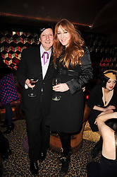 CHARLOTTE TILBURY and STEPHEN JONES at a party to re-launch Downstairs at Momos, Momos, Heddon Street, London on 22nd February 2010.