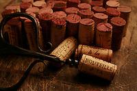 red wine corks - Photograph by Owen Franken
