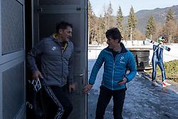 Vasja Bajc and Peter Slatnar during ski jumping training in Nordic Center Planica before Four Hills Tournament, on December 21, 2016 in Nordic, Center Planica, Planica, Slovenia. Photo by Matic Klansek Velej / Sportida