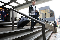 Damjan Dervaric at Slovenian National team packing and going from Citadel Hotel to the Halifax airport, when they finished with games at IIHF WC 2008 in Halifax, on May 11, 2008, Canada. (Photo by Vid Ponikvar / Sportal Images)
