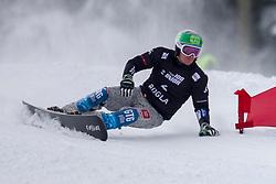 Edwin Coratti (ITA) during Final Run at Parallel Giant Slalom at FIS Snowboard World Cup Rogla 2019, on January 19, 2019 at Course Jasa, Rogla, Slovenia. Photo byJurij Vodusek / Sportida
