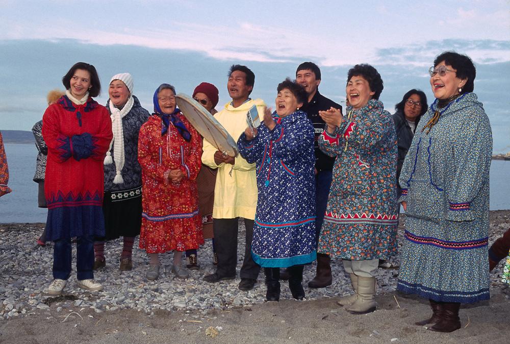 Native dancers, Town of Lavrentiya, Chukotsk Peninsula, NE Russia, 1992