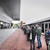 Nederland, Amsterdam , 23 september 2012..Vanmorgen om 10.00u ging het Stedelijk museum weer open voor publiek na een jarenlange verbouwing..Stedelijk Museum Amsterdam (Museum for Modern Art) opened its doors after being closed for more than 8 years.