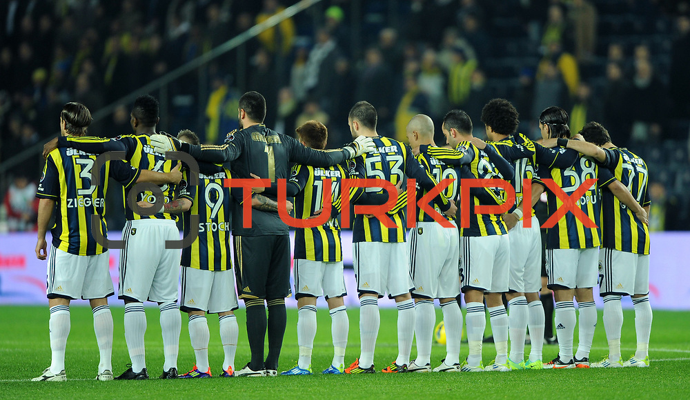 Fenerbahce's players during their Turkish superleague soccer match Fenerbahce between Gaziantepspor at the Sukru Saracaoglu stadium in Istanbul Turkey on Monday09 January 2011. Photo by TURKPIX