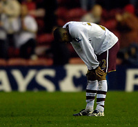 Photo: Jed Wee/Sportsbeat Images.<br /> Middlesbrough v Arsenal. The FA Barclays Premiership. 09/12/2007.<br /> <br /> Arsenal's Gael Clichy shows his disappointment at the end of the match.