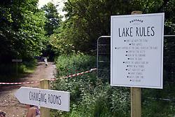Latitude Festival 2016, Henham Park, Suffolk, UK. Lake swimming sponsored by Fat Face