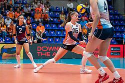 Romy Brokking of Netherlands, Jolijn de Haan of Netherlands in action during United States - Netherlands, FIVB U20 Women's World Championship on July 15, 2021 in Rotterdam