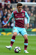 Aaron Cresswell of West Ham in action. Premier league match, Stoke City v West Ham Utd at the Bet365 Stadium in Stoke on Trent, Staffs on Saturday 29th April 2017.<br /> pic by Bradley Collyer, Andrew Orchard sports photography.