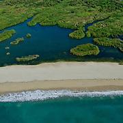 Aerial view of the Estuary in San Jose del Cabo. Baja California Sur, Mexico.