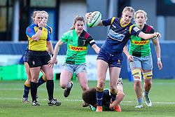 Vicky Laflin of Worcester Warriors Women is tackled by Shaunagh Brown of Harlequins Women  - Mandatory by-line: Nick Browning/JMP - 20/12/2020 - RUGBY - Sixways Stadium - Worcester, England - Worcester Warriors Women v Harlequins Women - Allianz Premier 15s