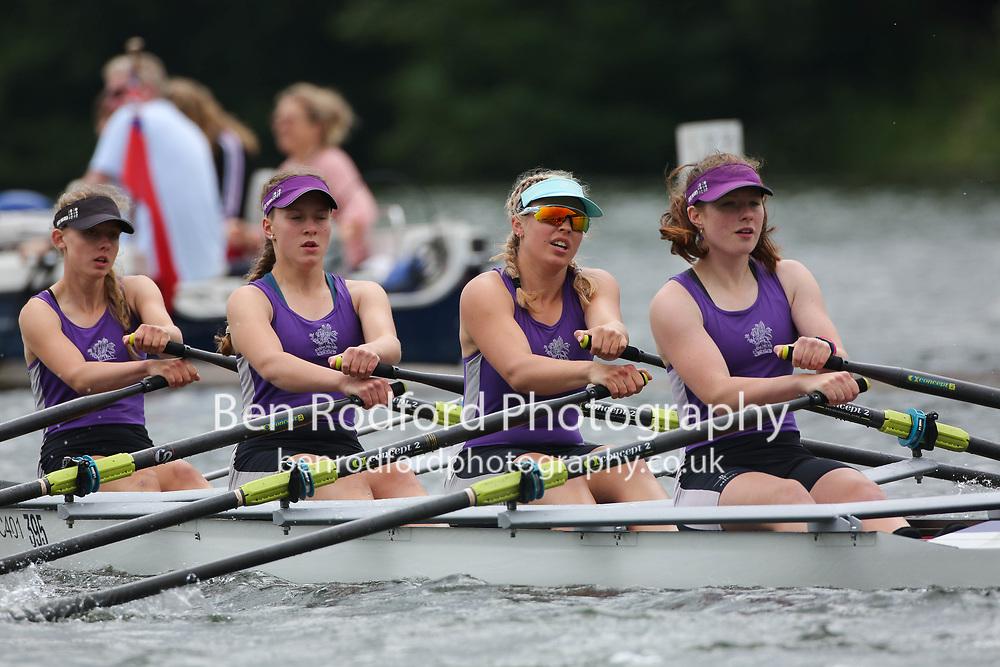Junior 4x  Heat<br /> <br /> Henley RC <br /> Wycliffe Junior Rowing Club (A)<br /> <br /> Henley Women's Regatta 2021<br /> Saturday