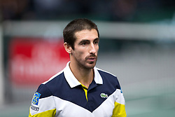 Pablo Cuevas of Uruguay during the men's single first round match against Rafael Nadal of Spain during day four of the Rolex Paris Masters at the Accor Hotels Arena on November 2, 2017 in Paris, France. Photo by Yann Bohac/ANDBZ/ABACAPRESS.COM