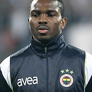 Fenerbahce's Joseph Michael YOBO during their Turkish Superleague Derby match Besiktas between Fenerbahce at the Inonu Stadium at Dolmabahce in Istanbul Turkey on Sunday, 20 February 2011. Photo by TURKPIX