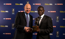 Patrick Barclay of the Football Writers Association hands the Footballer of the Year award to Chelsea's N'Golo Kante during the FWA Footballer of the Year Dinner at The Landmark Hotel, London.