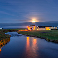 Full Moon setting behind Waterville House | Waterville Golf Links | Limited Edition of 25<br /> Limited Edition Print of 25<br /> <br /> ********<br /> Sign up for new photograph releases of Waterville Links here<br /> <br /> https://tinyurl.com/WatervilleGolfLinksReleases