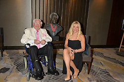 JACK PETCHEY and FRANCES SEGELMAN at a party to celebrate Jack Petchey's 90th birthday in association with the Stroke Association held at the Shangri-La Hotel, Level 34, The Shard, London on 13th July 2015.