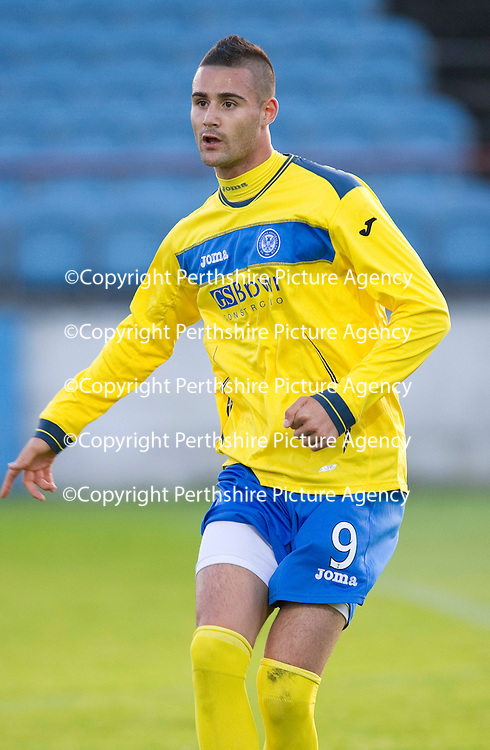 St Johnstone FC....Season 2011-12<br /> Marcus Haber pictured in the game against Drogheda where he played as a trialist<br /> Picture by Graeme Hart.<br /> Copyright Perthshire Picture Agency<br /> Tel: 01738 623350  Mobile: 07990 594431