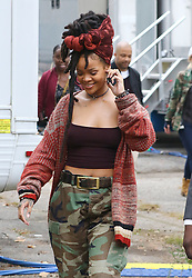 November 3, 2016 - New York, New York, United States - Actress and singer Rihanna was on the Brooklyn set of the new movie 'Ocean's Eight' on November 3 2016 in New York City  (Credit Image: © Zelig Shaul/Ace Pictures via ZUMA Press)