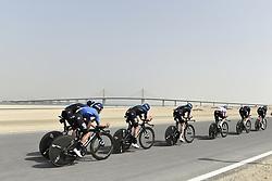 February 24, 2019 - Abu Dhabi, Emirati Arabi Uniti, Emirati Arabi Uniti - Foto LaPresse - Fabio Ferrari.24 Febbraio 2019 Abu Dhabi (Emirati Arabi Uniti).Sport Ciclismo.UAE Tour 2019 - Tappa 1 - Da Al Hudayriat Island a Al.Hudayriat Island - Crono squadre 16 km.Nella foto: la gara..Photo LaPresse - Fabio Ferrari.February 24, 2019 Abu Dhabi (United Arab Emirates) .Sport Cycling.UAE Tour 2019 - Stage 1 - From Al Hudayriat Island to.Al Hudayriat Island - TTT 9,9 miles.In the pic: the race (Credit Image: © Fabio Ferrari/Lapresse via ZUMA Press)