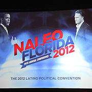 Repuplican Presidential Nominee and former Massachusetts Governor Mitt Romney, speaks at the NALEO (National Association of Latino Elected and Appointed Officials) conference at the Disney Contemporary Resort Convention Center in Orlando, Fla. on Thursday, June 21, 2012.(AP Photo/Alex Menendez) Presidential hopeful Mitt Romney speaks to members of NALEO in Orlando, Florida.
