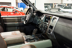 CHARLOTTE, NC, USA - November 11, 2015: Ford Expedition King Ranch on display during the 2015 Charlotte International Auto Show at the Charlotte Convention Center in downtown Charlotte.