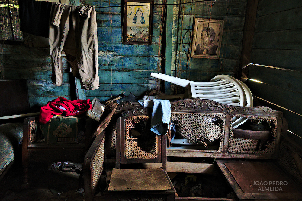 Inside an abandoned house in Havana