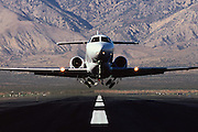 A Hawker 1000 business jet takeoff from Mohave, CA.